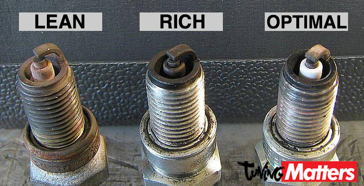 Spark Plug Lean Rich Optimal